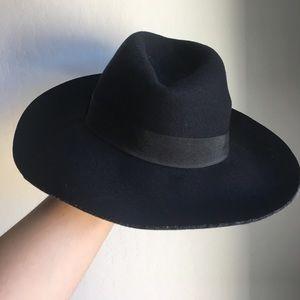 Navy Wide Brim Hat